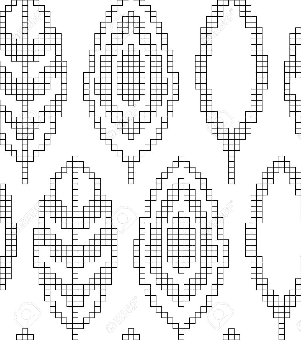 Esquema Para Tejer. Patrones Geométricos Sin Fisuras Con Hojas ...