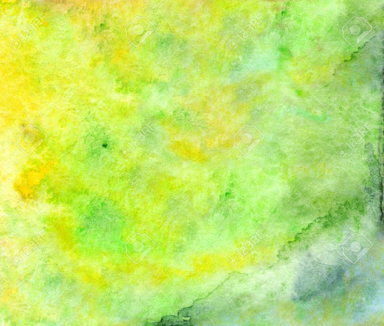 Aquarelle Vert Jaune Neon Papier Peint Texture De Fond Banque D
