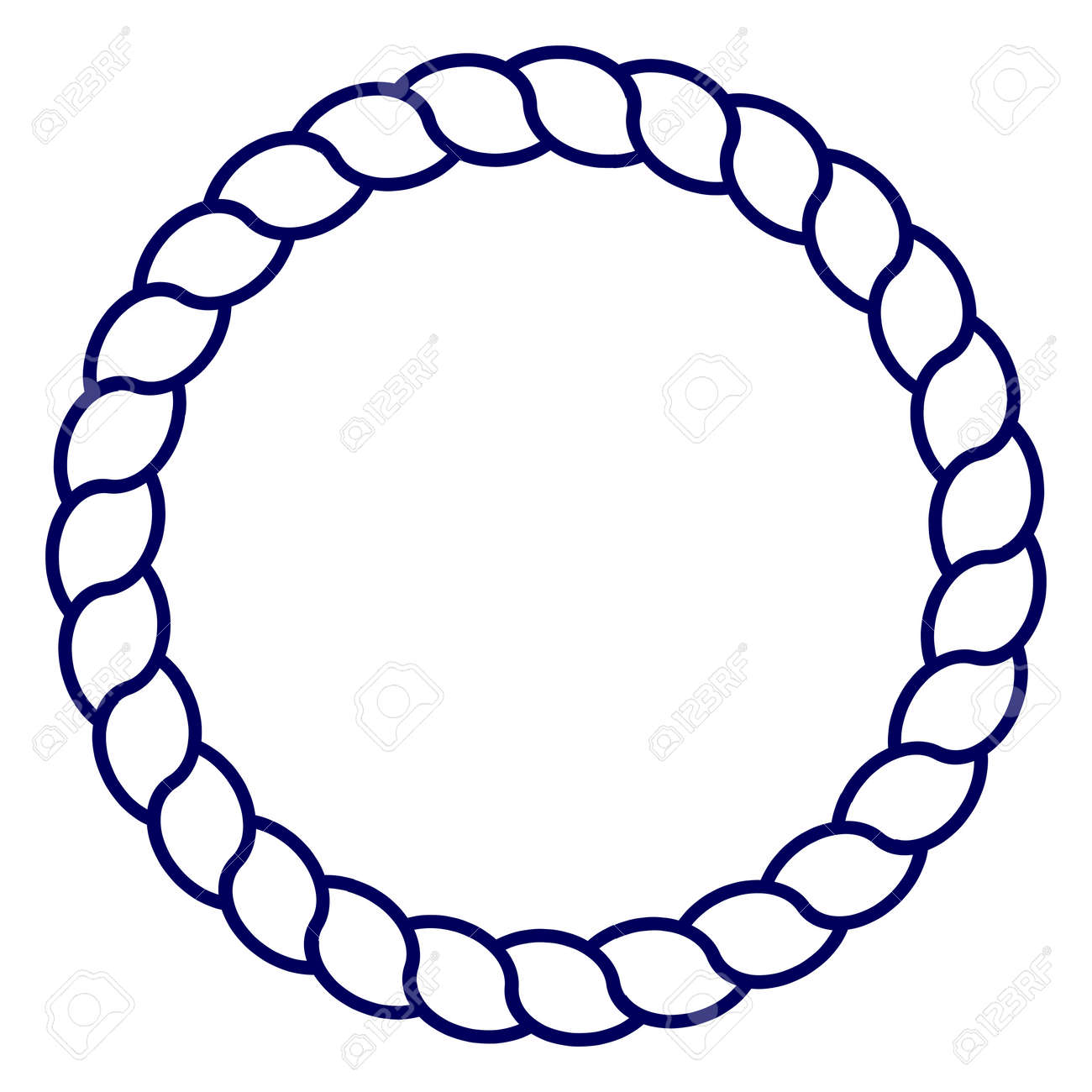 circle blue navy rope vector line art isolated royalty free rh 123rf com rope vector png rope vector borders free