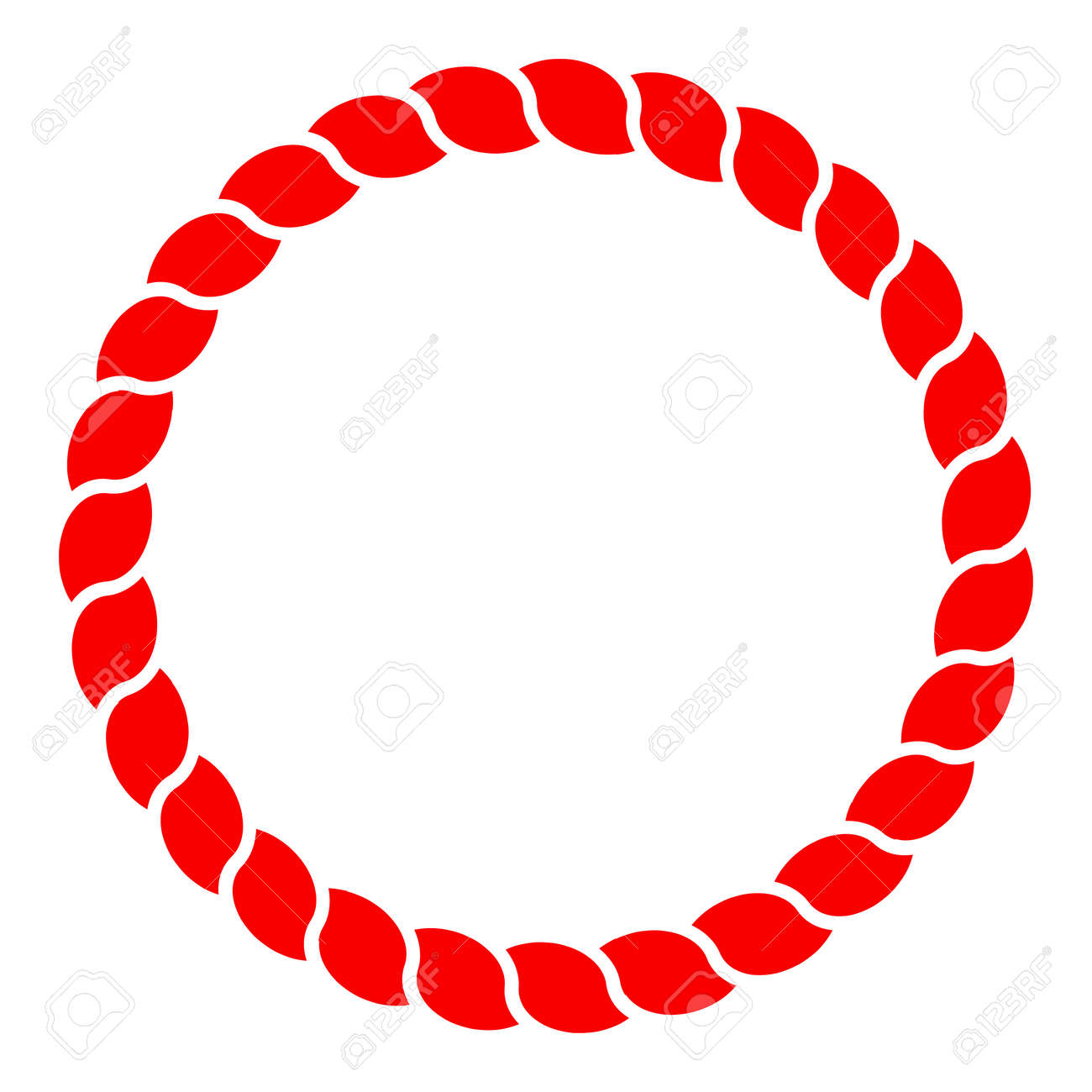 circle red rope vector line art isolated royalty free cliparts rh 123rf com
