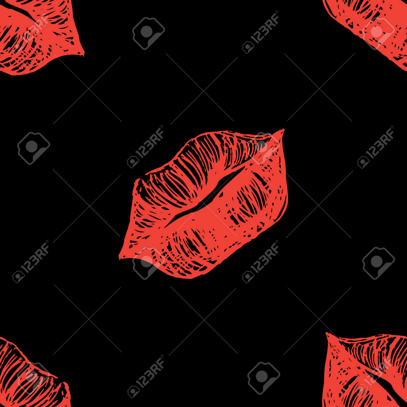 Black Lips Background