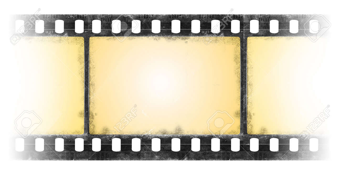 film strip in grunge style - transparency Stock Photo - 5367269