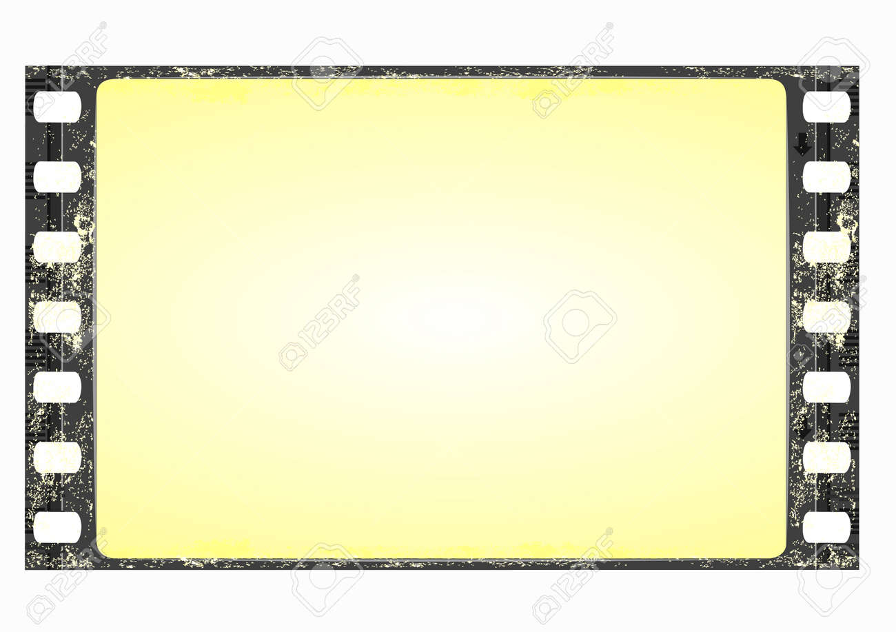 grunge film frame wide stock vector 5601223