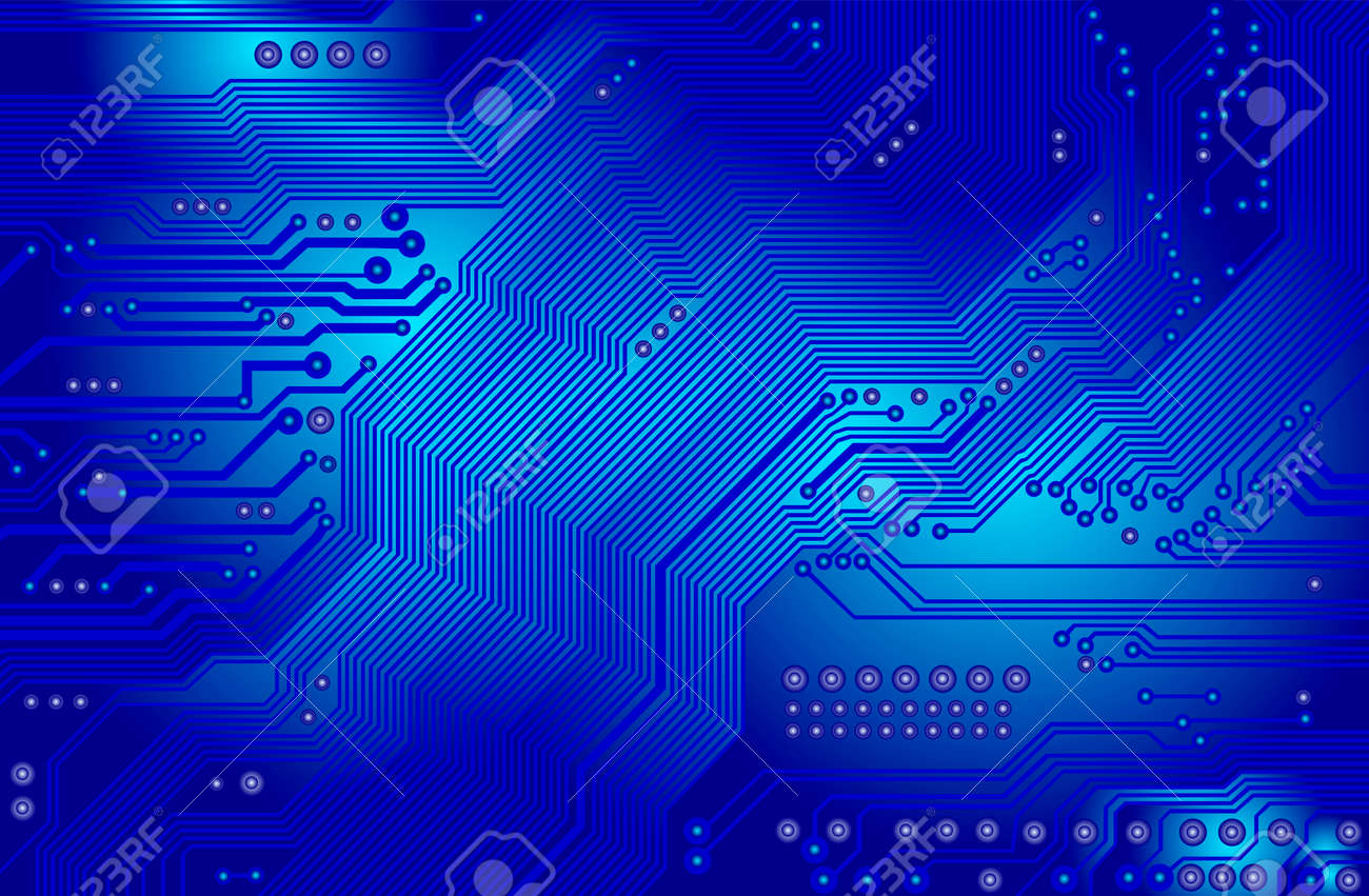 printed circuit - motherboard - vector Stock Vector - 6172365