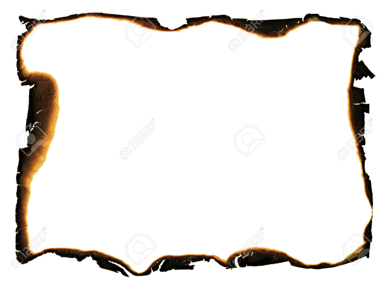 grunge frame with charred and ragged edges Stock Photo - 6368854