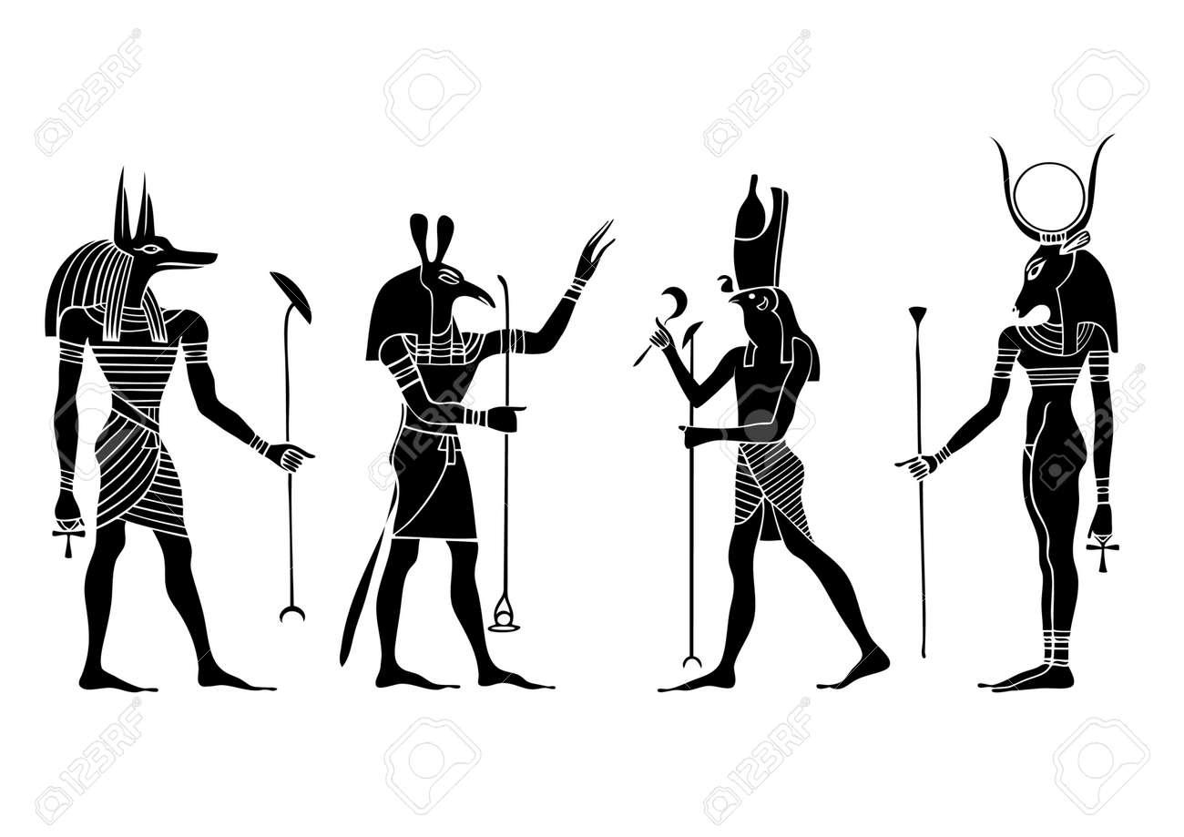 Various Egyptian gods and goddess - 7293025
