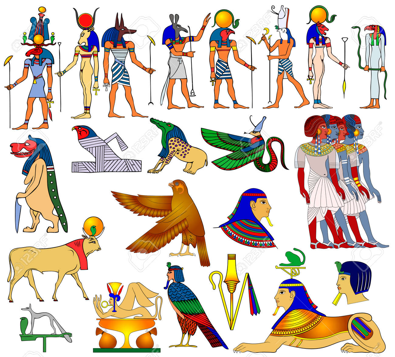 Vector themes of ancient Egypt Stock Vector - 8042339