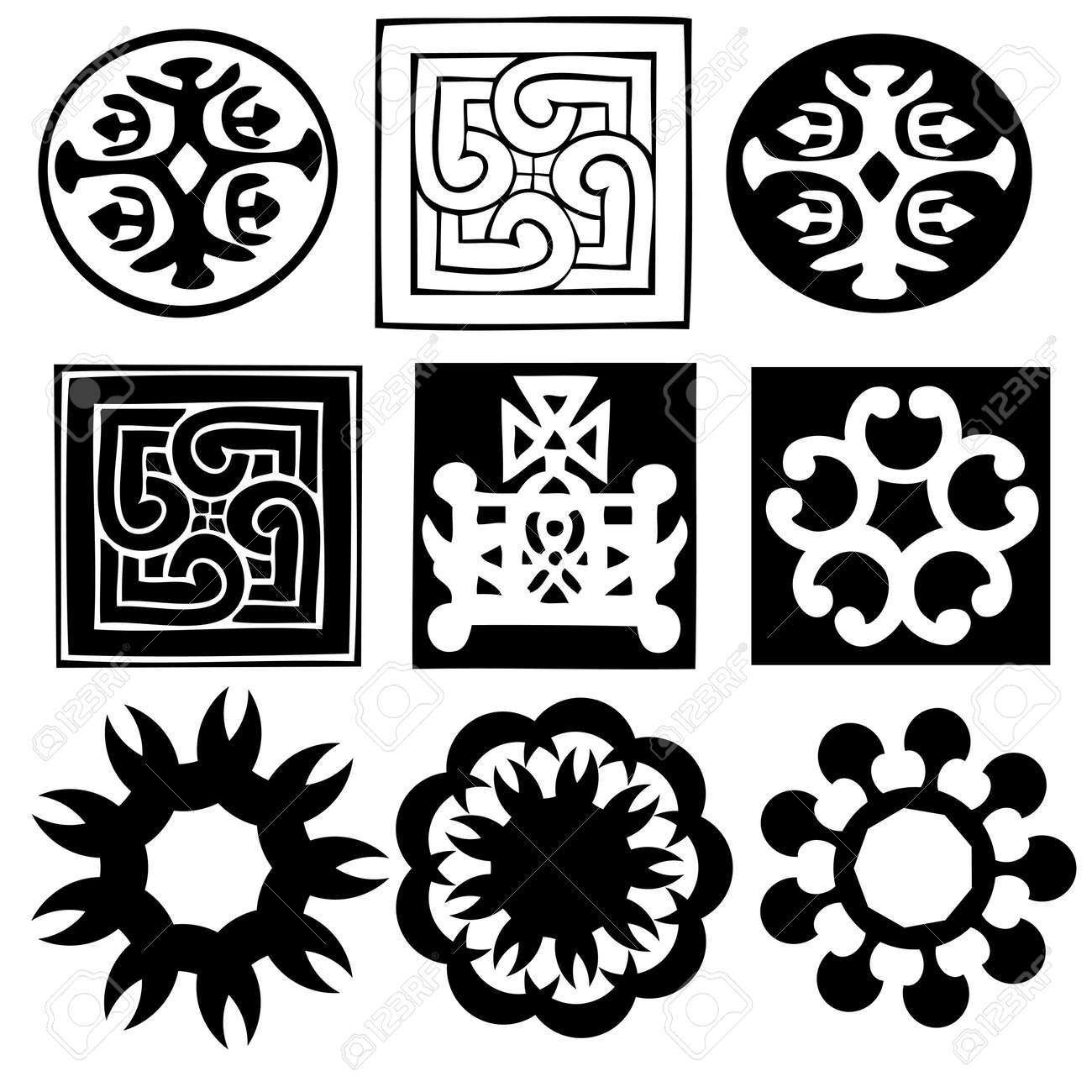Various ornaments abstract symbols vector royalty free various ornaments abstract symbols vector stock vector 11663935 buycottarizona