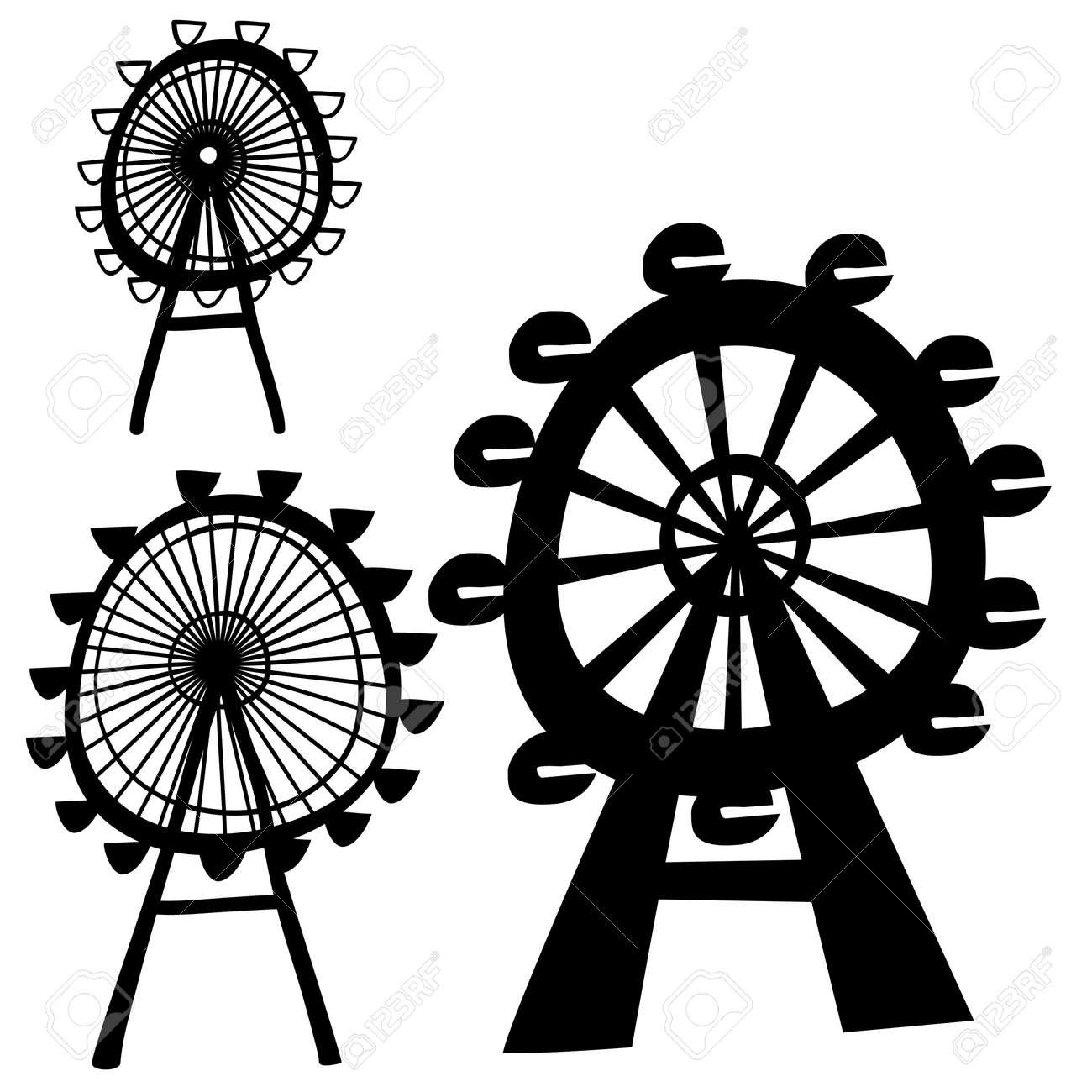 vector ferris wheel Stock Vector - 13612071