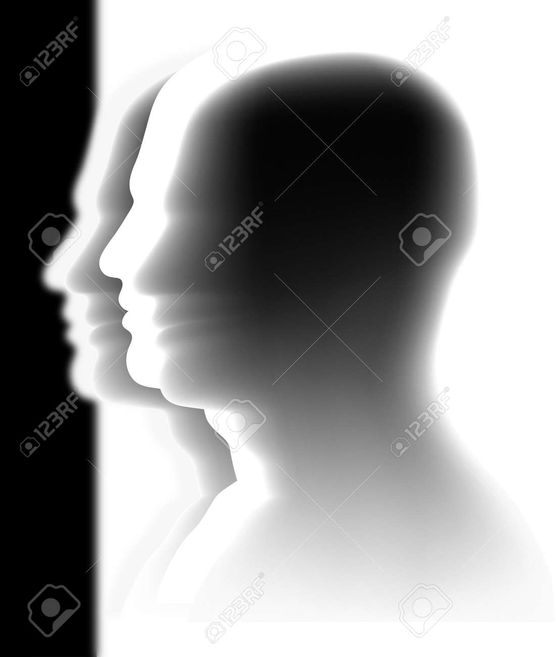heads - anonymous crowd Stock Vector - 16719626