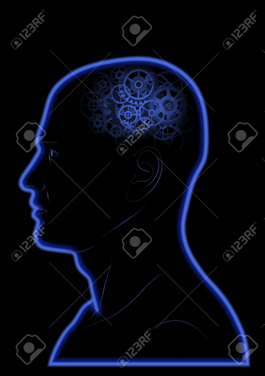 Vector Gears In The Head - Brain - Intelligence - Thinking Stock Vector - 17816525