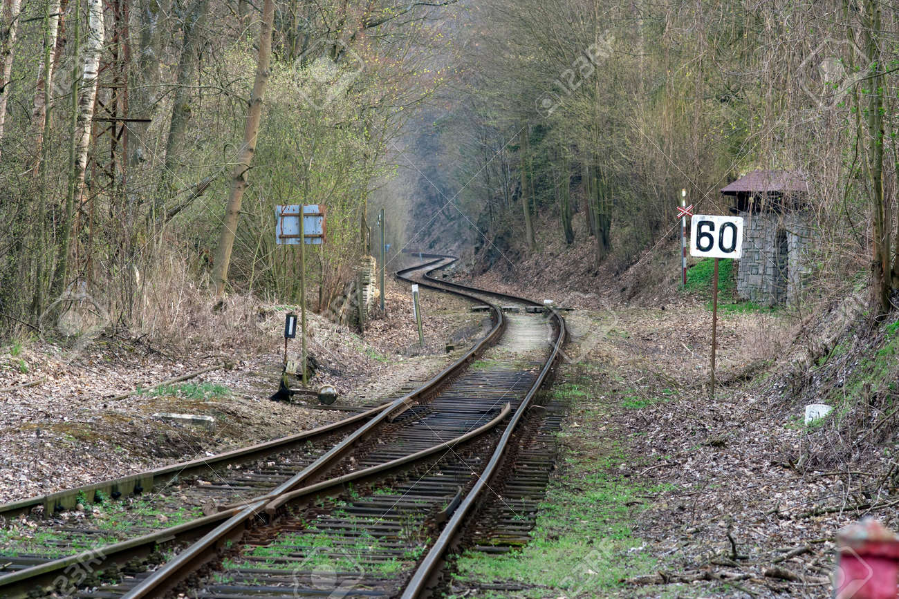 Shot of the old and abandoned train track