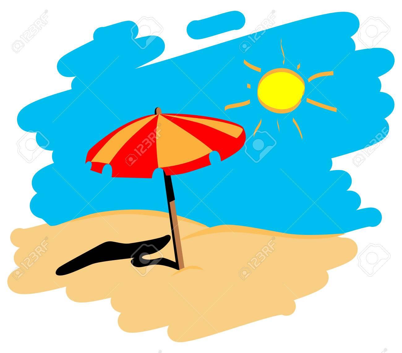 Liegestuhl mit sonnenschirm clipart  Liegestuhl Mit Sonnenschirm Strand | tentfox.com
