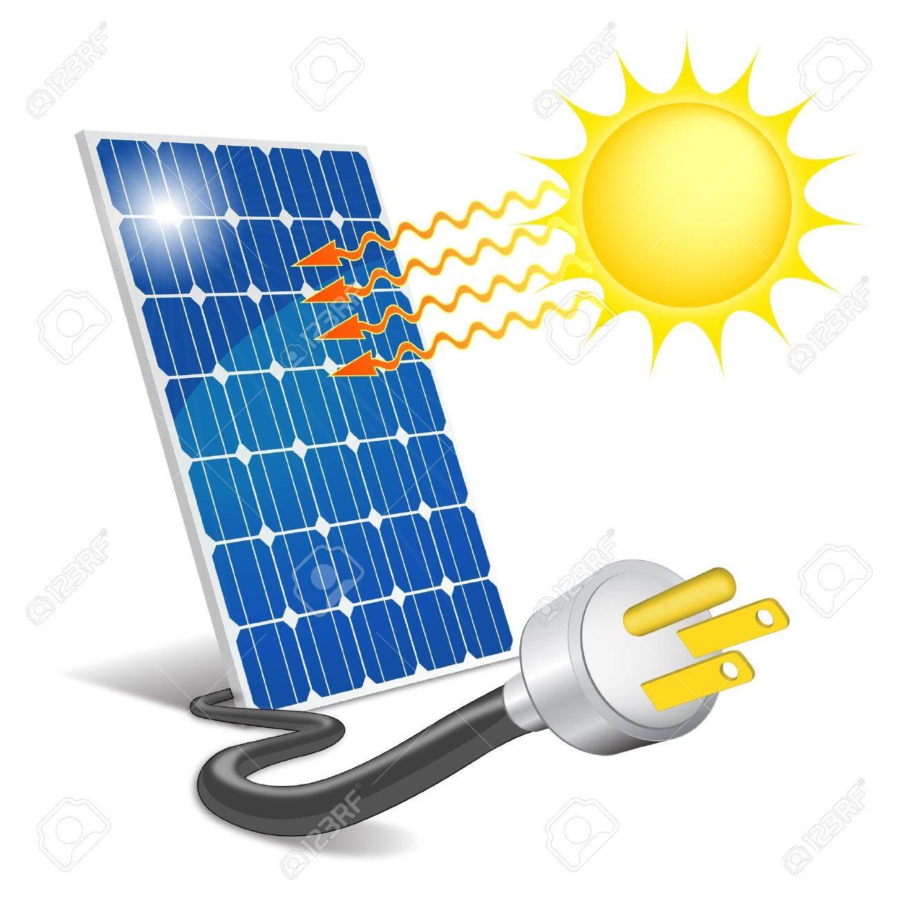 panel photovoltaic royalty free cliparts vectors and stock rh 123rf com renewable energy clipart solar energy pictures clip art
