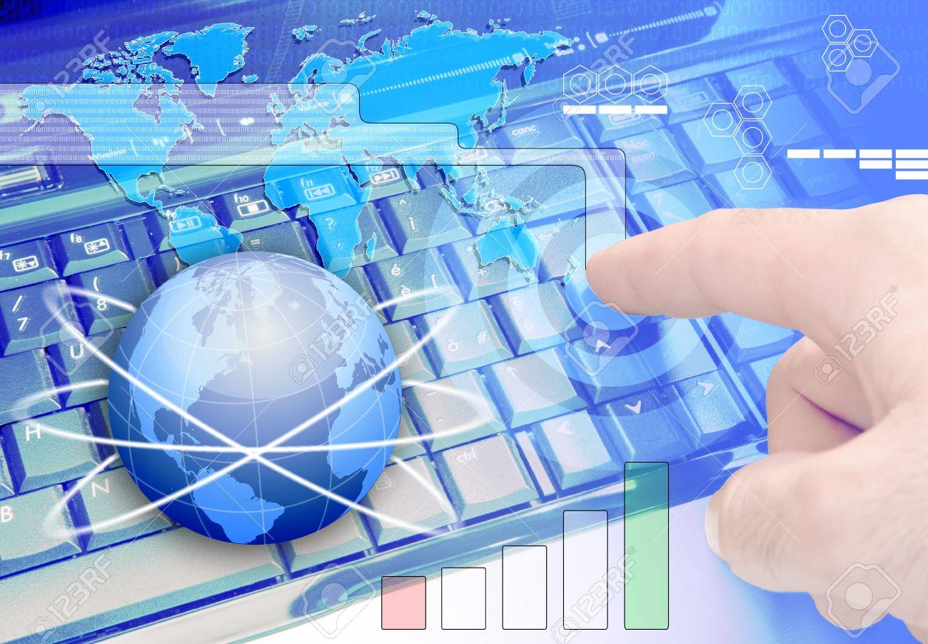 Theme Background Communications Technology, Information Technology ...