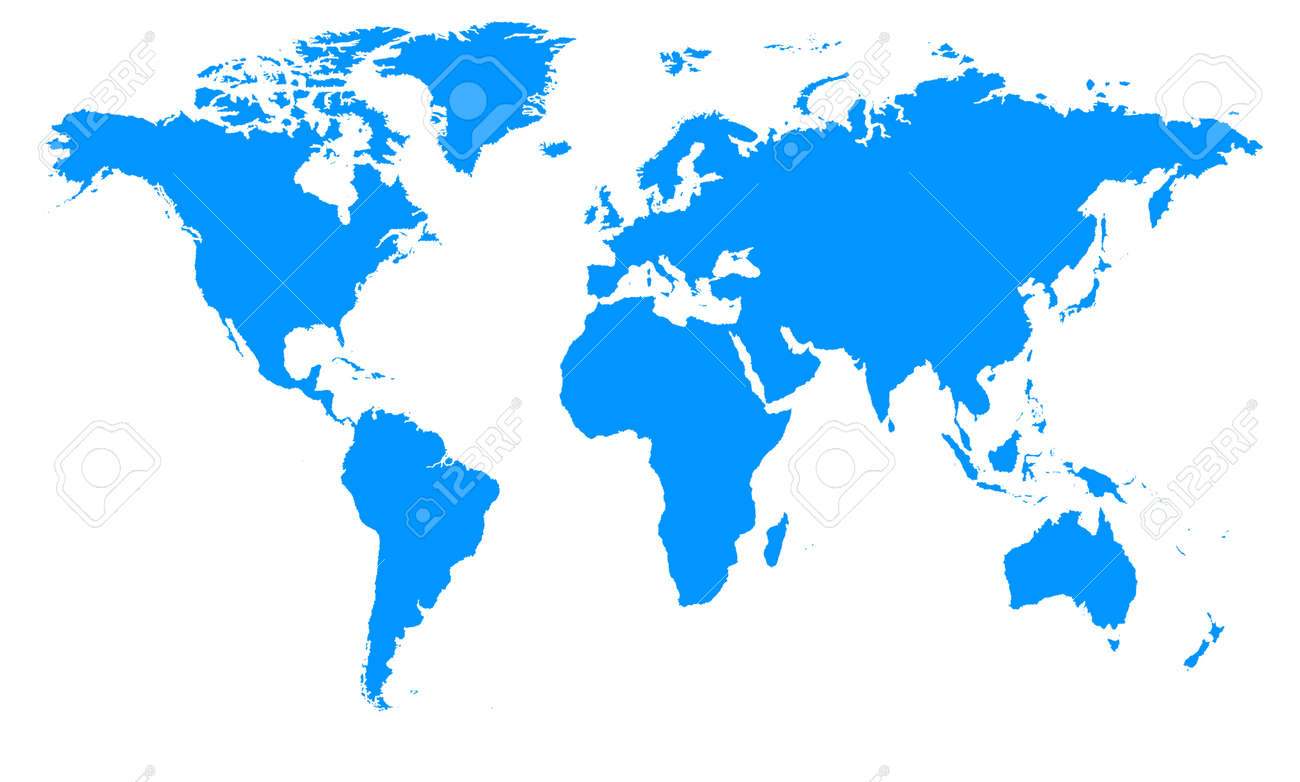 image that represents the detailed map of the world Stock Vector - 15198005