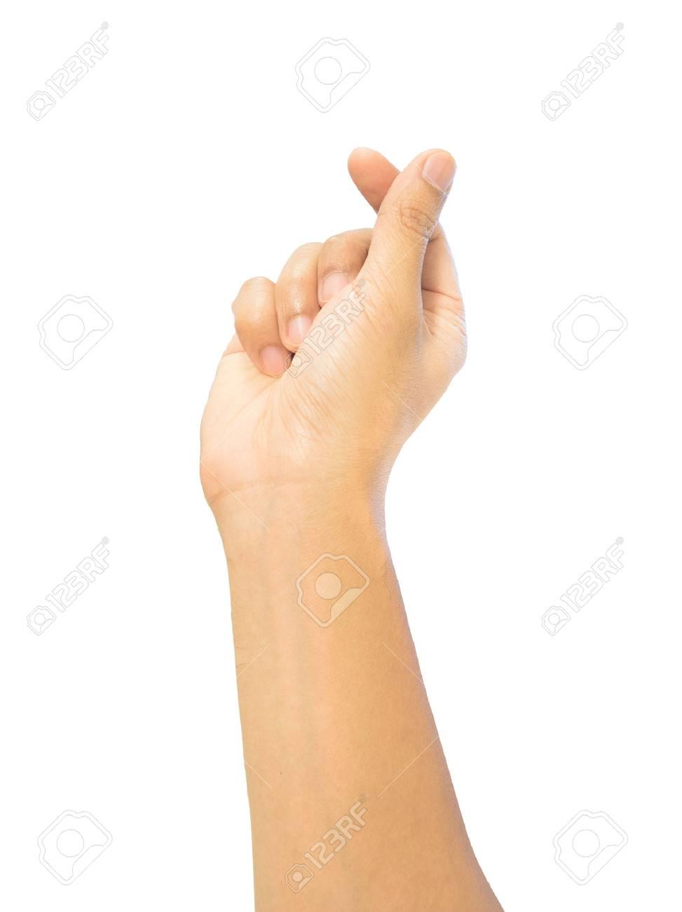 Mini heart finger hand sign love symbol trend posture isolation mini heart finger hand sign love symbol trend posture isolation with clipping path biocorpaavc Gallery