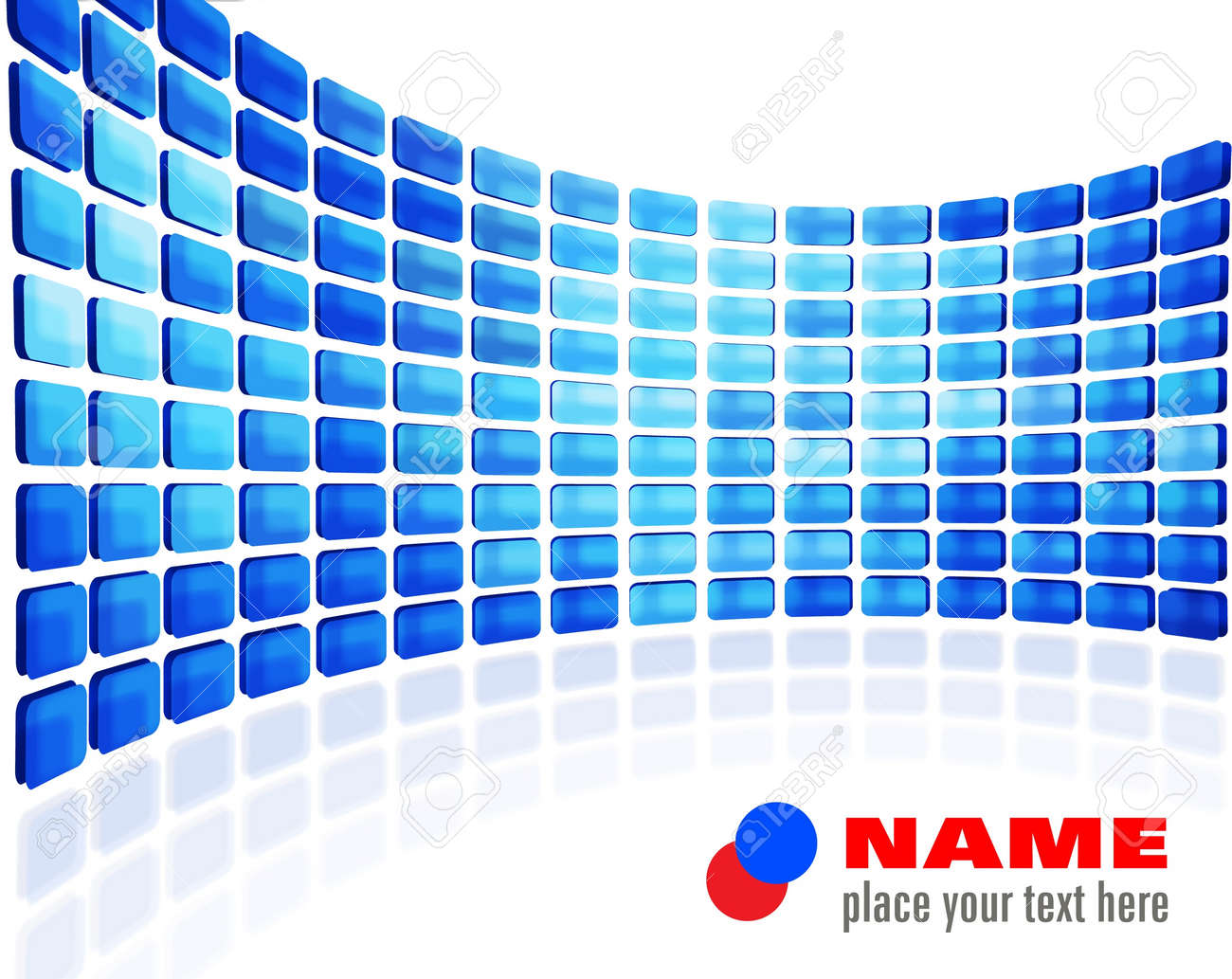 Blue abstract wall Stock Vector - 10771331