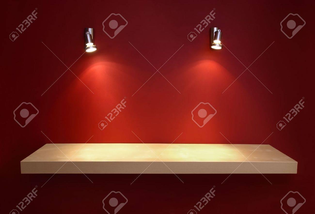 Empty shelf for exhibit Stock Photo - 12025188