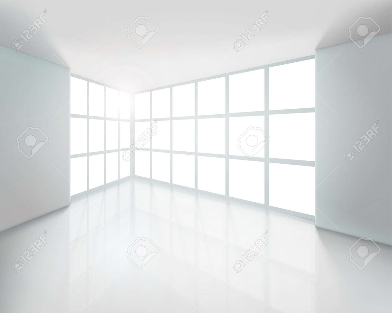 Empty white interior. Vector illustration. Stock Vector - 12025192