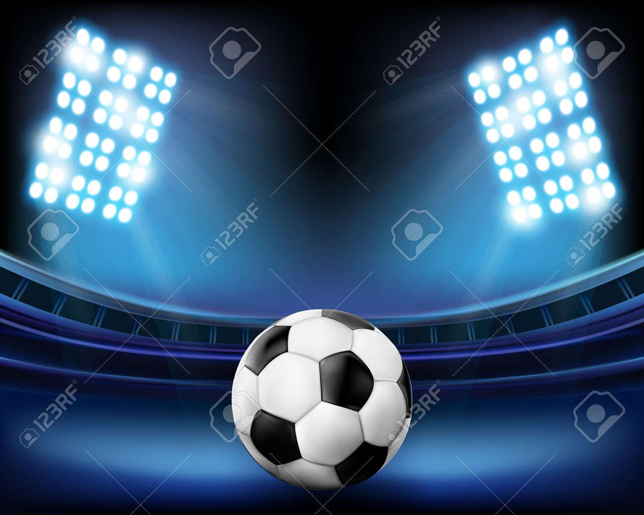 Football on the stadium. Vector illustration. Stock Vector - 12486563