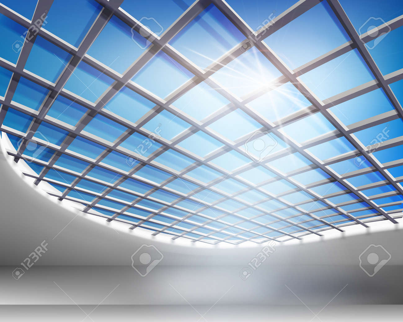 Glass hall. Vector illustration. Stock Vector - 15430856