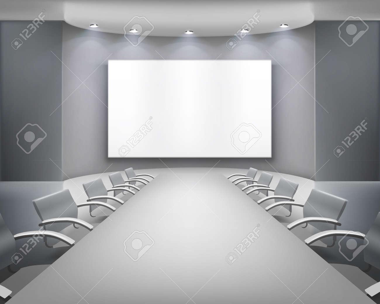 Meeting room.  illustration. Stock Vector - 18422627