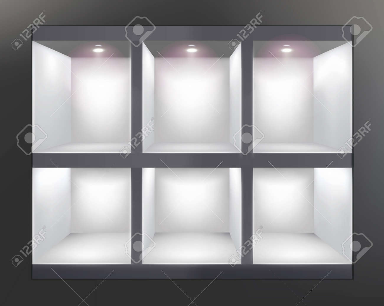 Shelves in shop  Vector illustration Stock Vector - 24523374