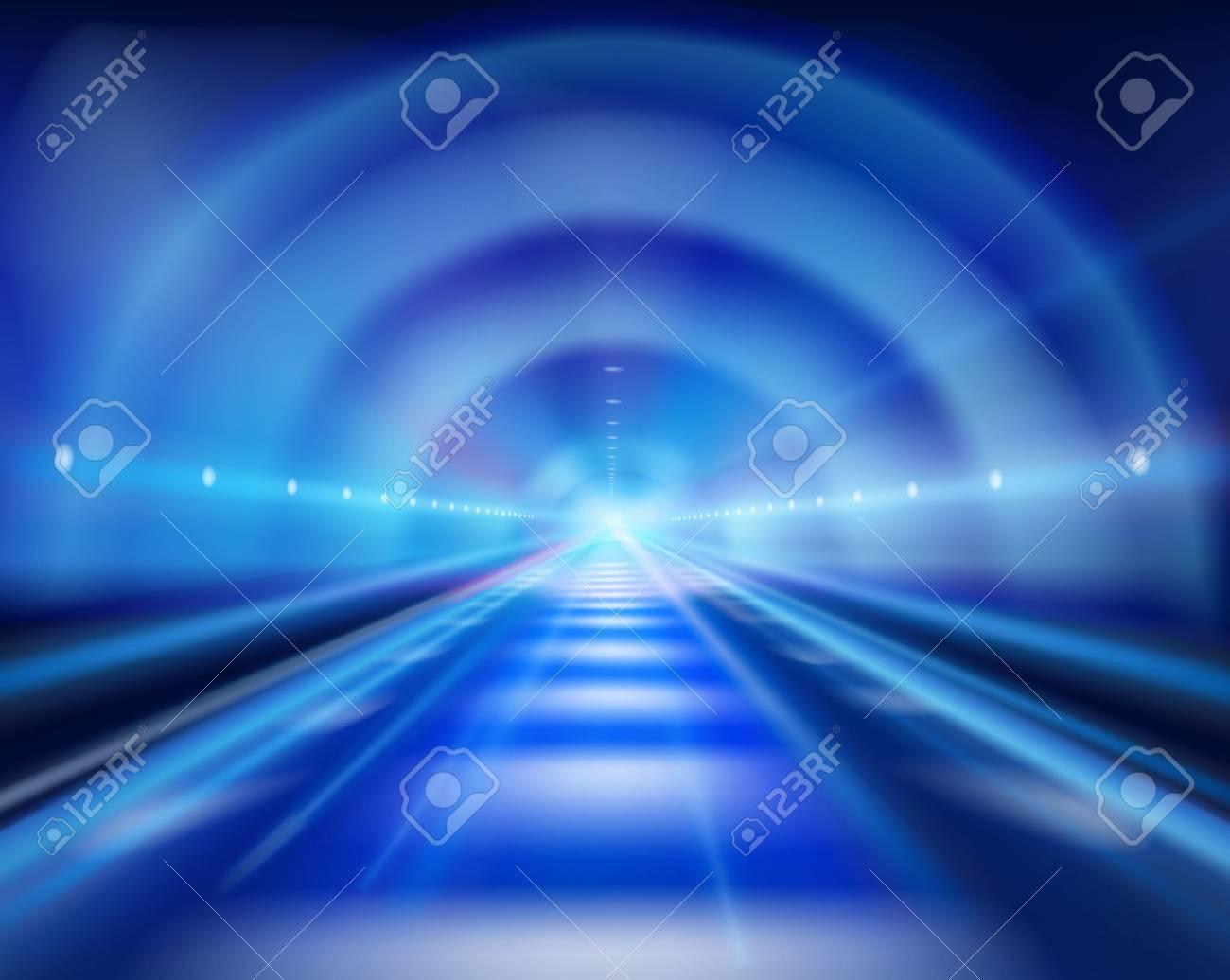 Long tunnel. Vector illustration. - 64471235
