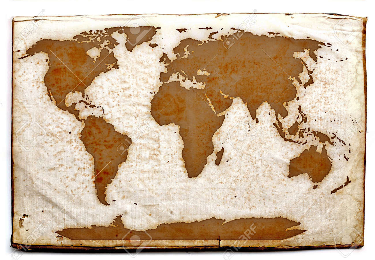 Ancient world map on old yellow paper stock photo picture and ancient world map on old yellow paper stock photo 752623 gumiabroncs Gallery