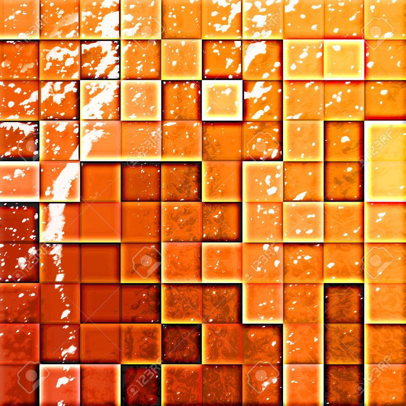 Badezimmer fliesen mosaik bunt  Bunten Mosaik-Fliesen Im Modernen Badezimmer Orange Und Rot ...