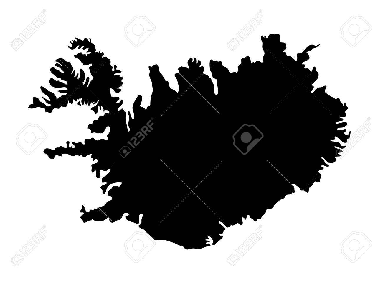 Map Of Iceland Silhouette. Royalty Free Cliparts, Vectors, And Stock ...