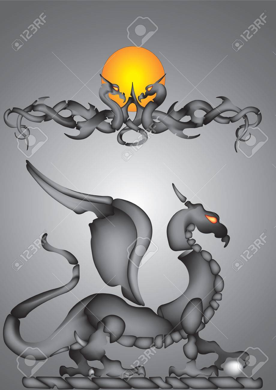 Vector illustration of abstract dragon Stock Vector - 5408334