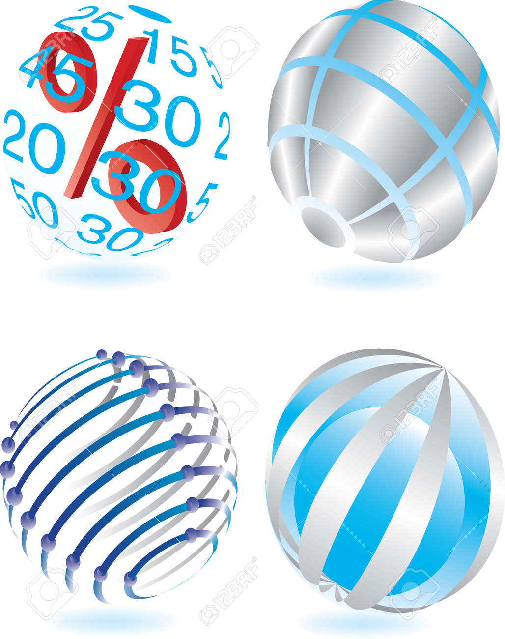 Vector illustration for different sphere Stock Vector - 6036778