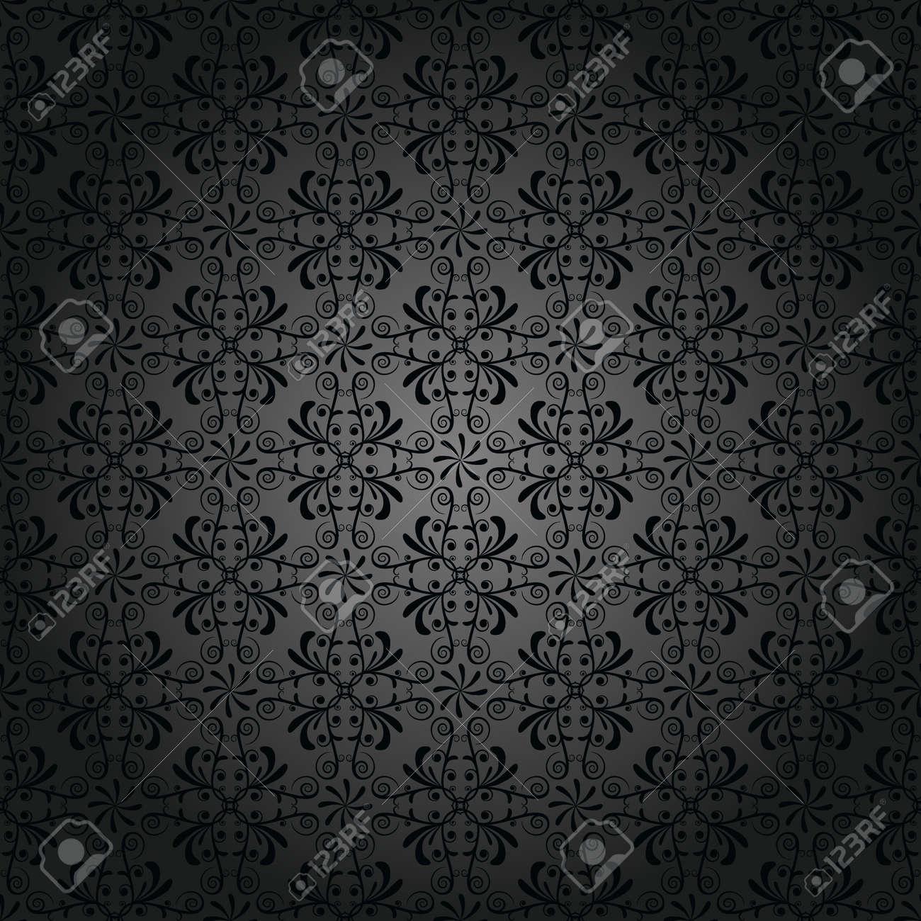 パターン アンティークの黒の壁紙のイラスト素材 ベクタ Image