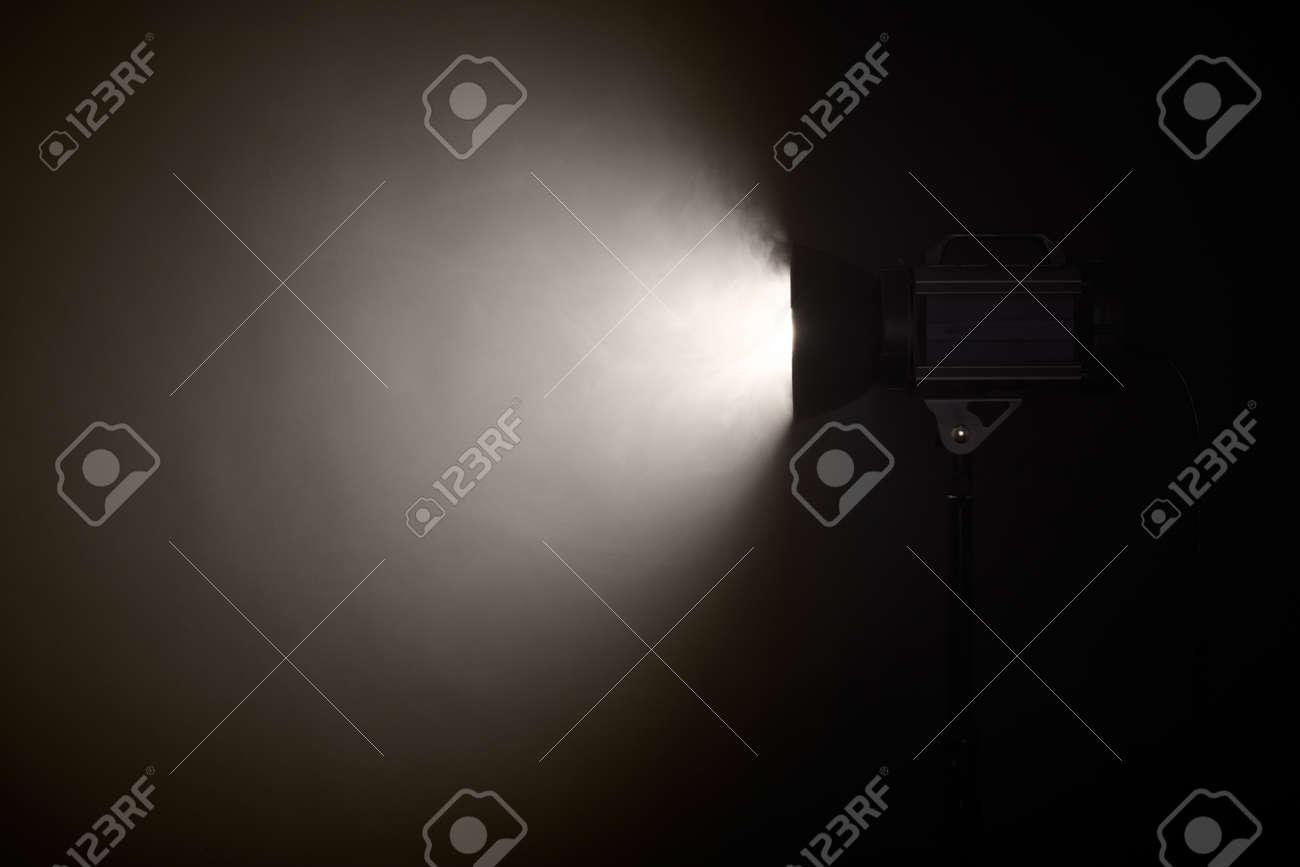Theater spotlight over black background Stock Photo - 16984618