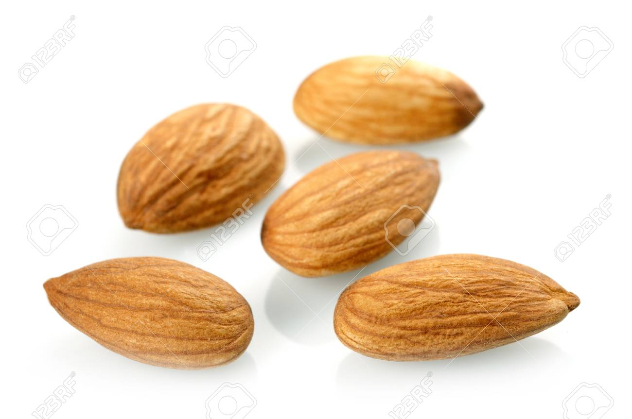 Almonds isolated on white background Stock Photo - 17608183