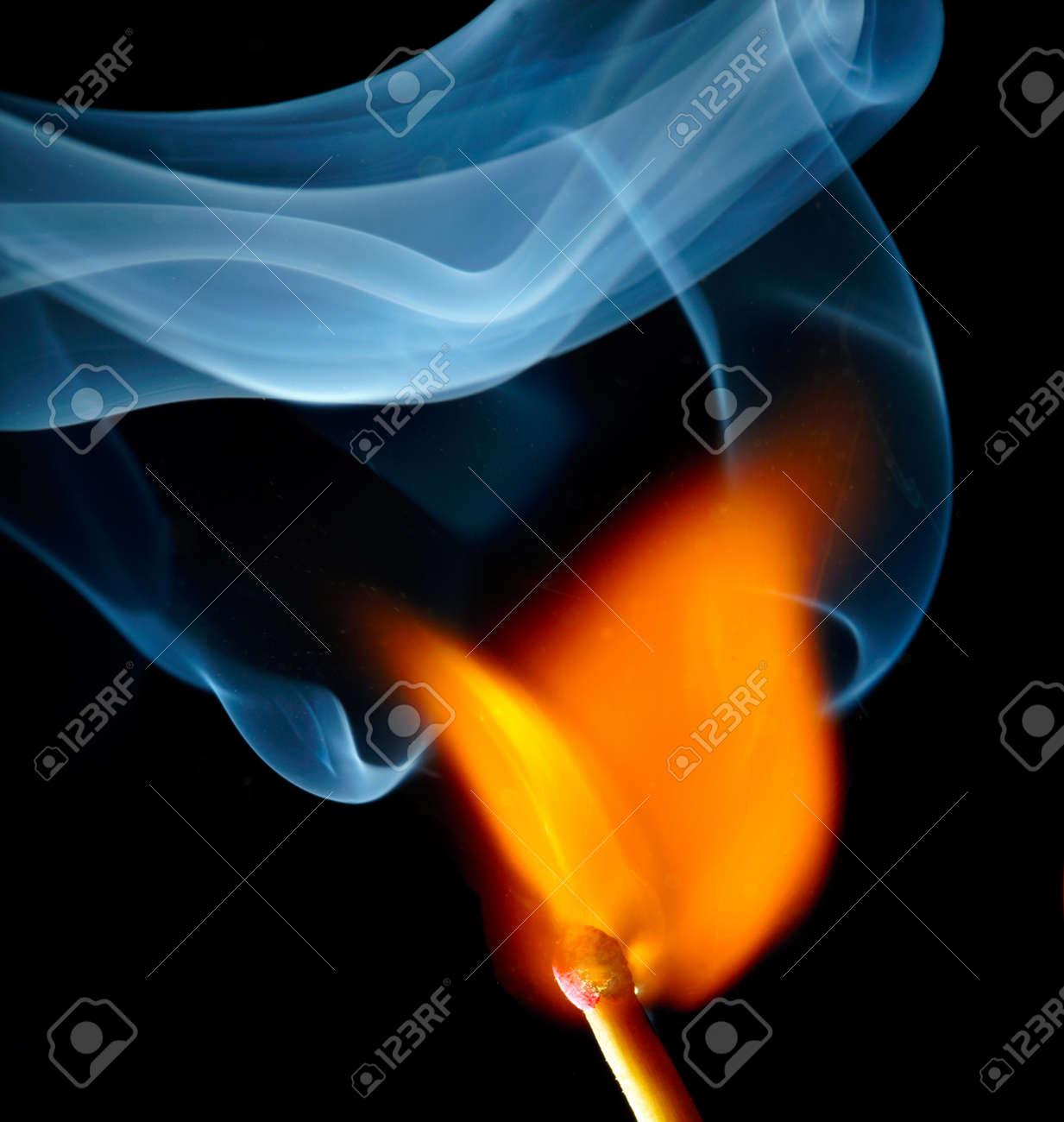 Burning match Stock Photo - 18224685