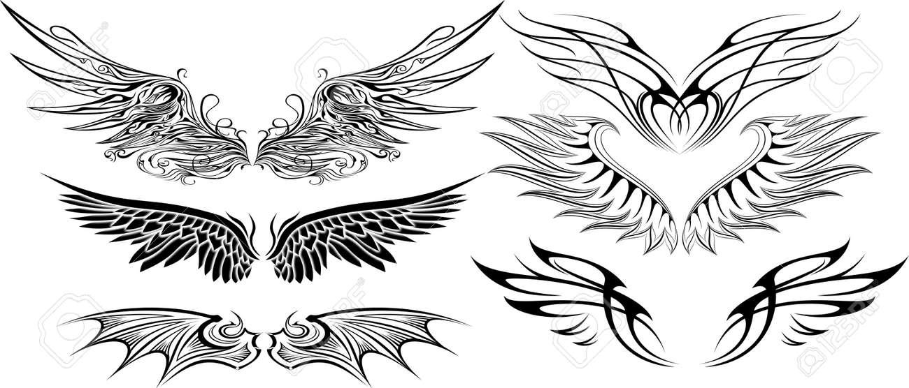 翼セットのイラストのイラスト素材ベクタ Image 24748105
