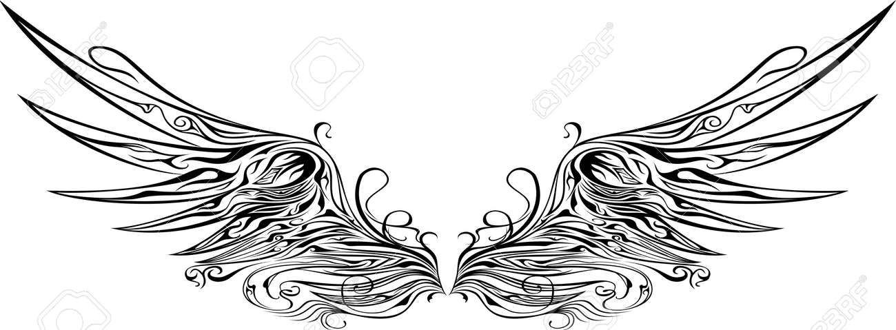 羽飾りのイラストのイラスト素材ベクタ Image 24867561