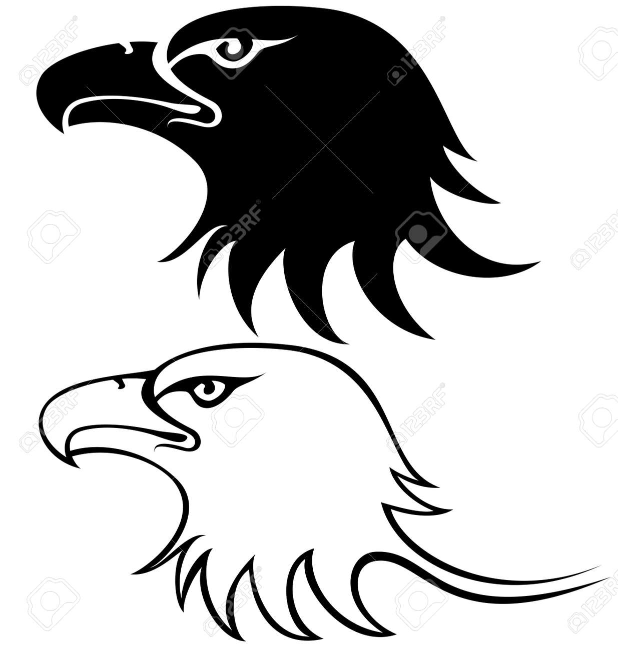 eagle Face silhouette  Eagle Head Silhouette Vector