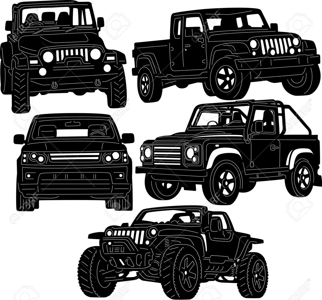 4x4 Truck Silhouette Royalty Free Cliparts Vectors And Stock