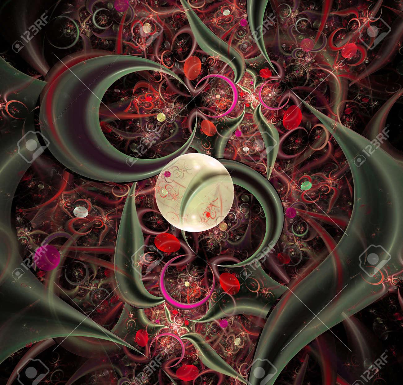 elegant abstract fractal background Stock Photo - 13294873