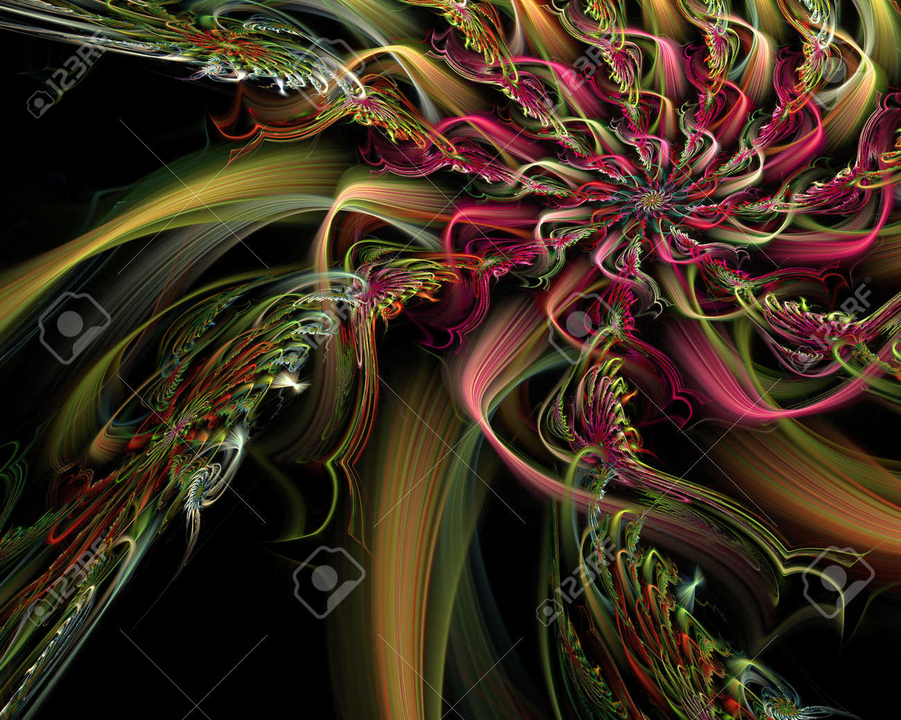 abstract fractal background Stock Photo - 15165449