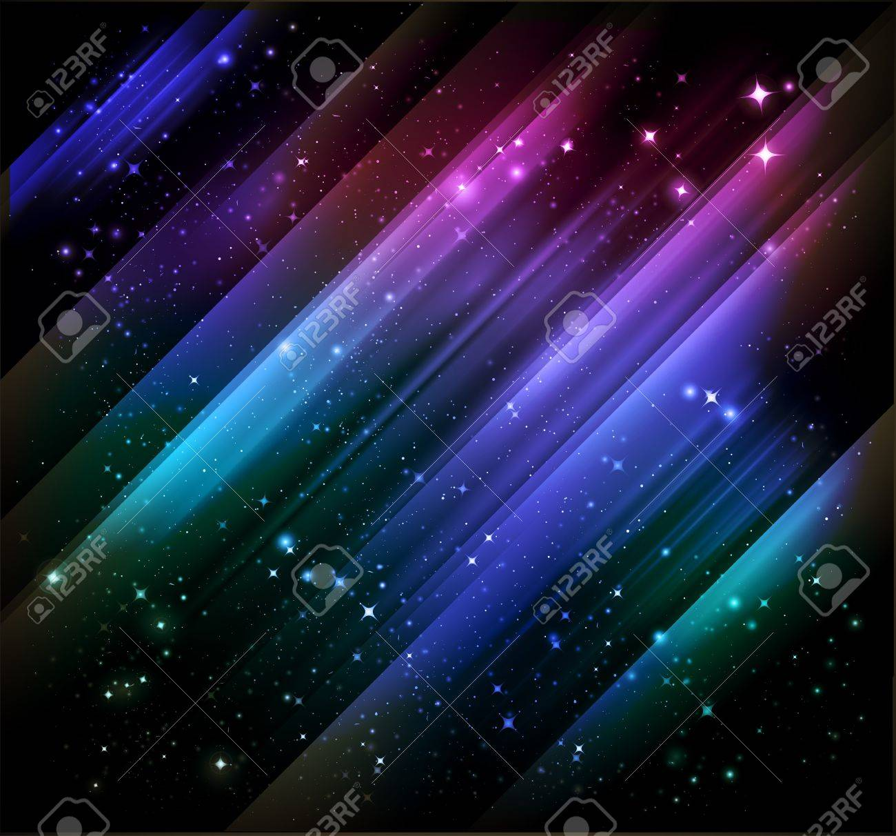 abstract northern lights background Stock Photo - 7860073