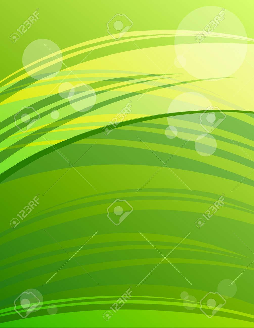 Légant Fond Vert Moderne En Format Lettre Grande Pour Imprimer Et Web Présentation Compagnie Brochure Couverture Papier à En Tête Bannière