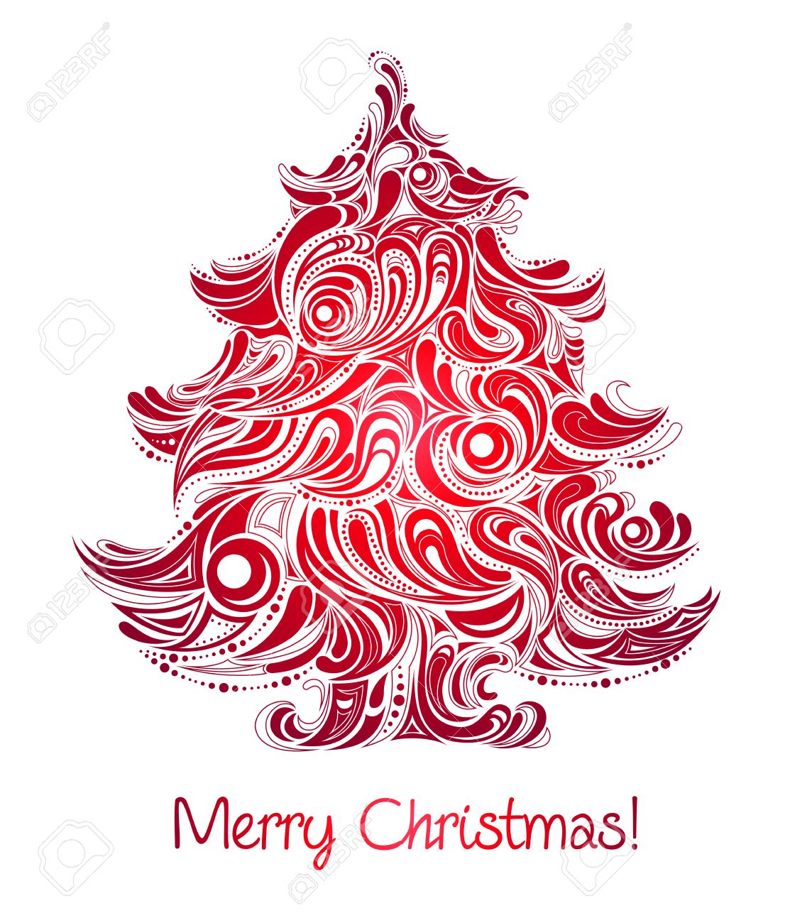 Red Christmas Tree Abstract Silhouette Royalty Free Cliparts Vectors And Stock Illustration Image 8225357