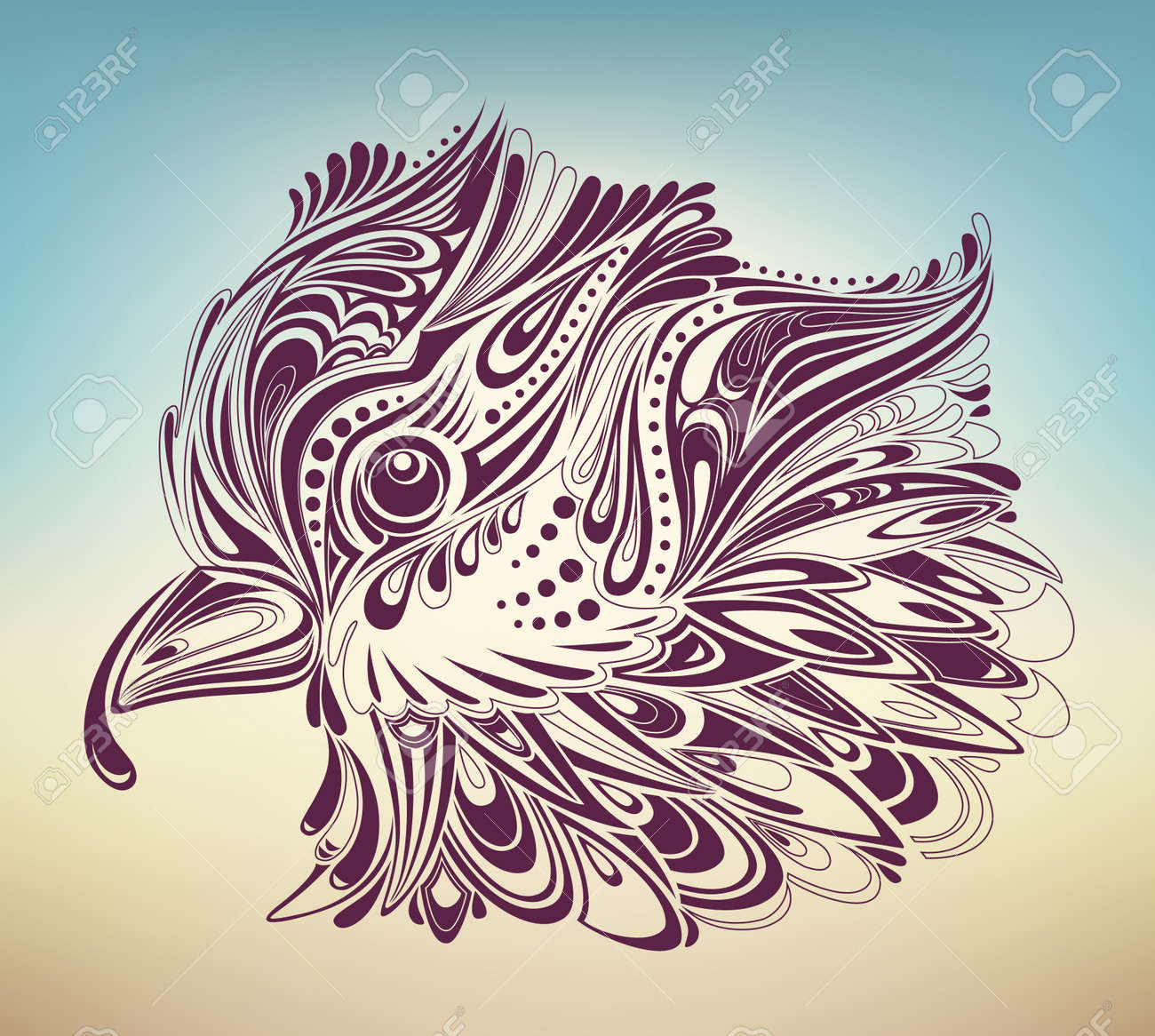 thanksgiving turkey abstract Stock Vector - 8225362