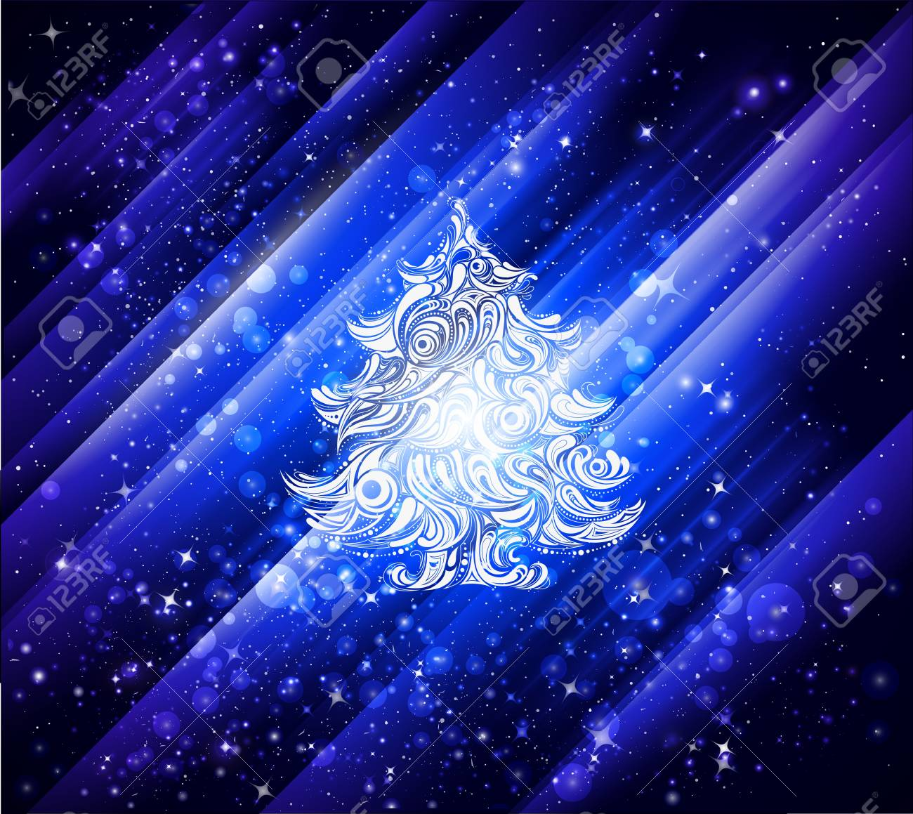 blue christmas wallpaper background Stock Photo - 8405975