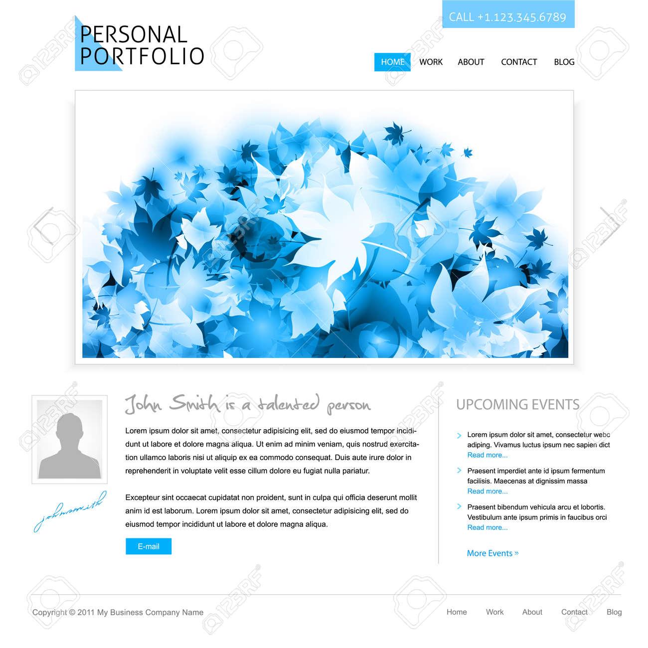 Weiße Website Vorlage - Portfolio Präsentation Für Künstler ...